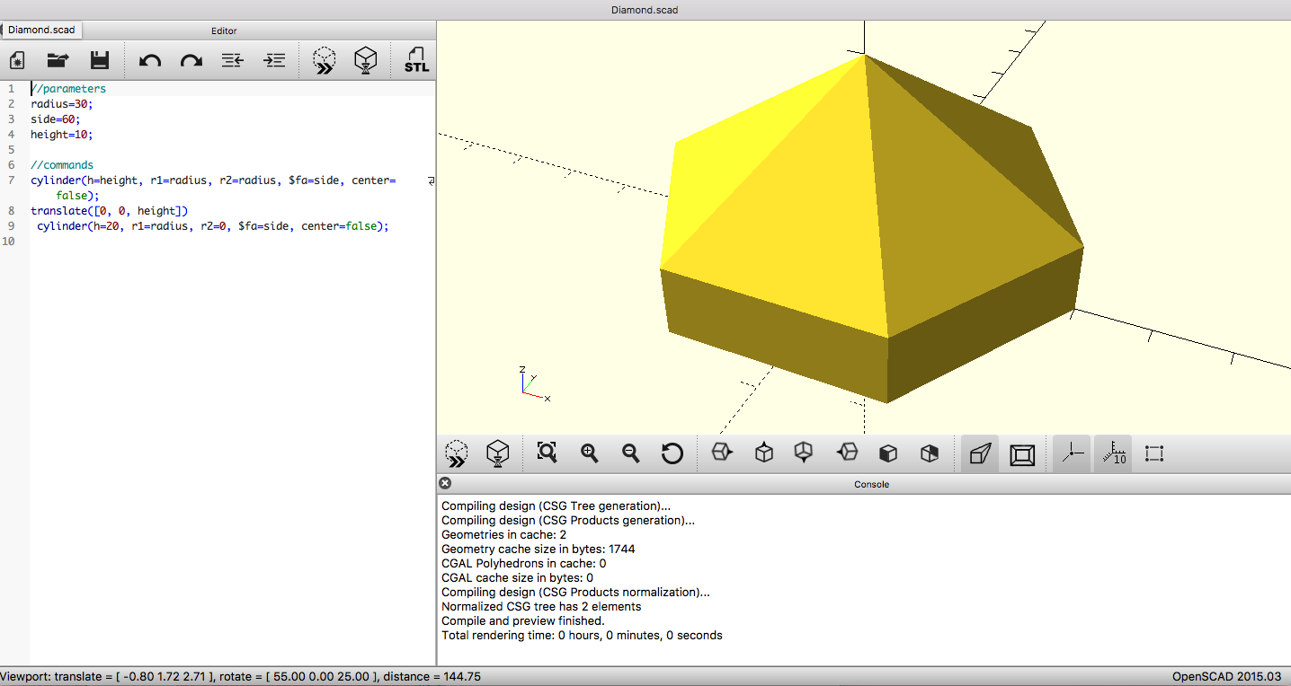 First time coding with OpenSCAD – Introduction to 3D