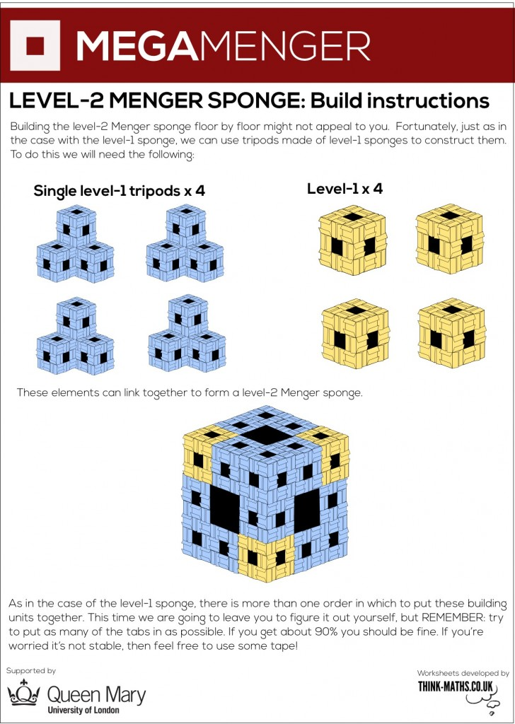 Mega-tripod construction method for level-2 sponge