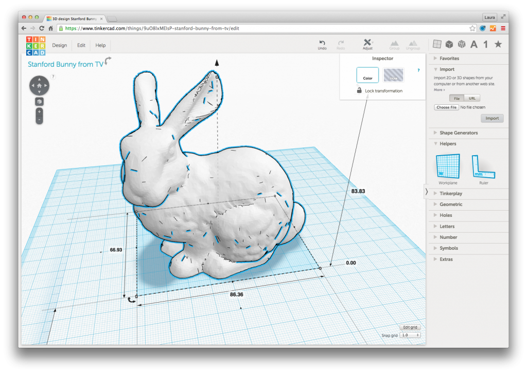 stanford_bunny_in_tinkercad