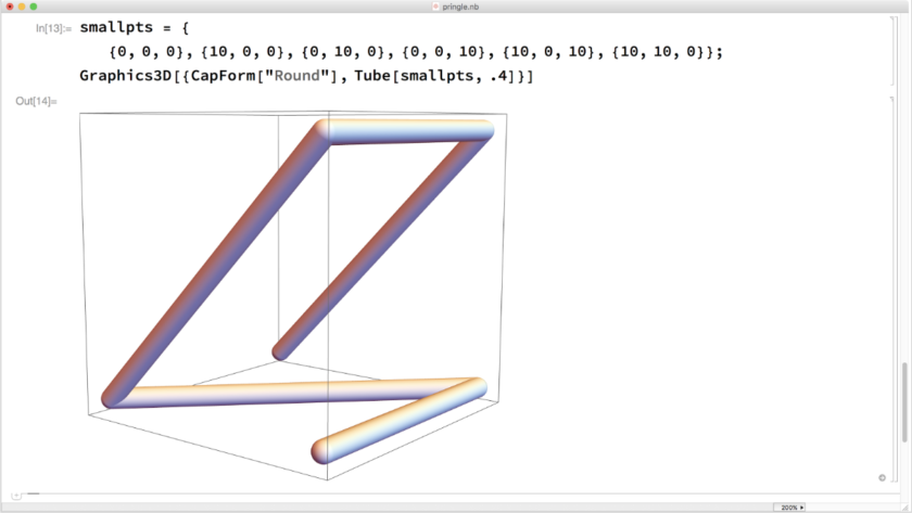 Mathematica screenshot: Graphics3D