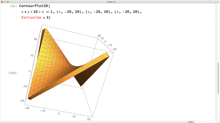 Mathematica screenshot: ContourPlot3D