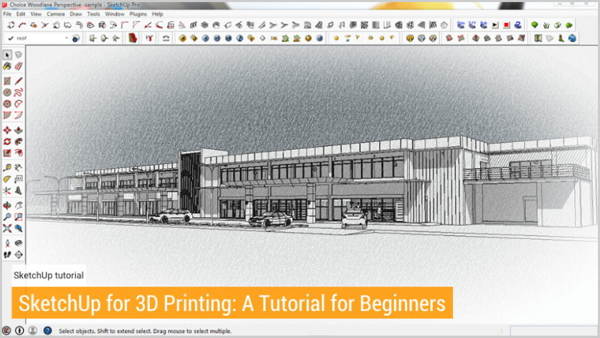 SketchUp for 3D Printing: A Tutorial for Beginners screenshot