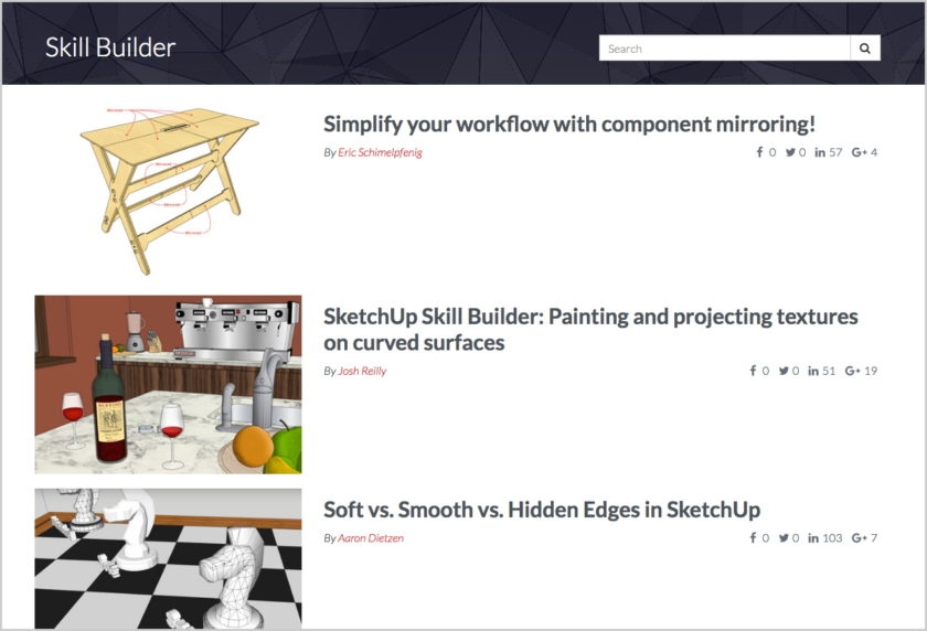 SketchUp Skill Builder screenshot