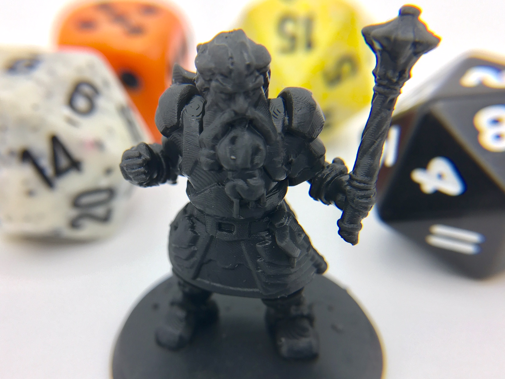 Hero Forge 3D model miniature edited in Meshmixer for 3D printing of custom D&D tabletop gaming character
