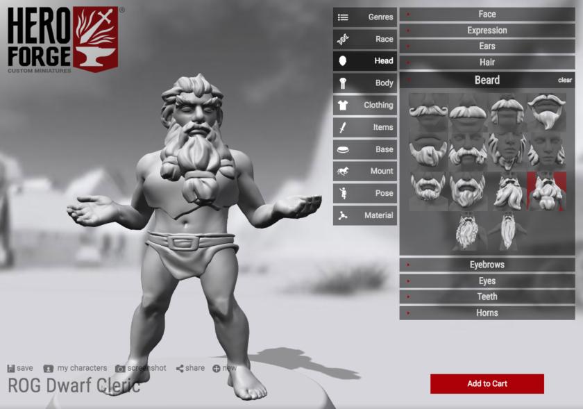 Hero Forge custom D&D tabletop gaming character creator tutorial screenshot