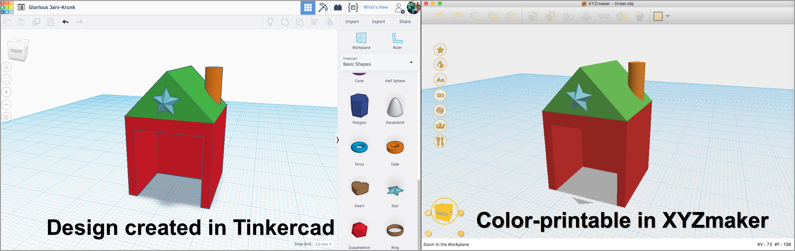 Multicolor 3D Printing, from Tinkercad to XYZ - mathgrrl