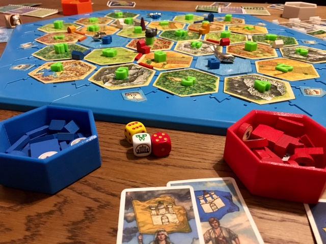 photo about Settlers of Catan Printable titled Hex Bowls for Settlers of Catan - mathgrrl