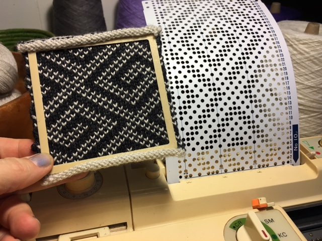 Getting Started on the Brother KH-881 Punchcard Knitting Machine