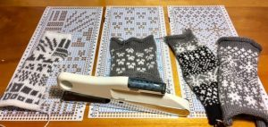 Knitting Machine Punch Card Trials Mathgrrl
