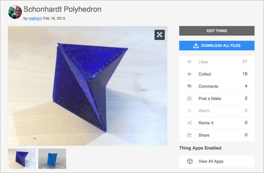 Schönhardt Polyhedron - mathgrrl